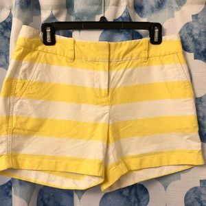 Vineyard Vines yellow and white striped shorts